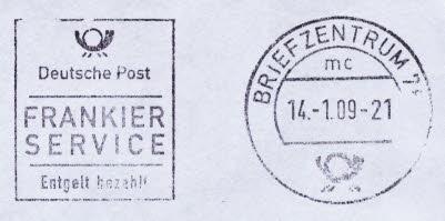 Stempel von Briefzentren